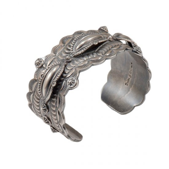 Fritz Casuse Intricate Sterling Silver Cuff
