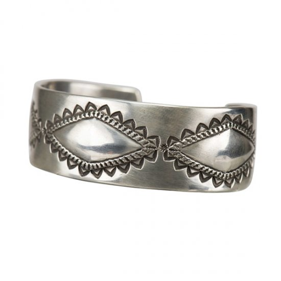 Perry Short Coin Silver Repousse Cuff