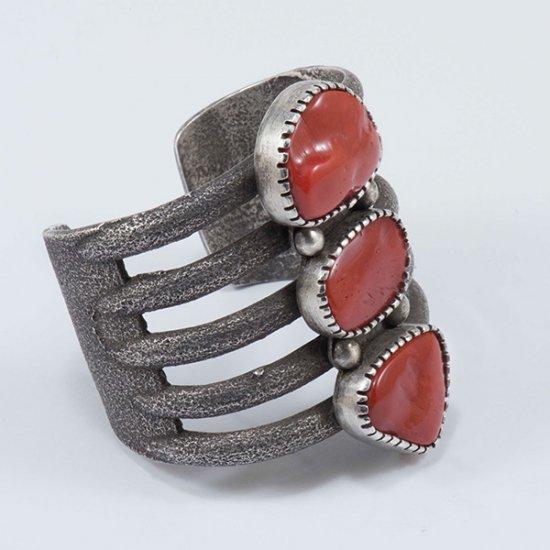 Olin Tsingine Silver and Coral Cuff