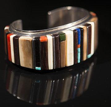 Charles Loloma Height Inlay Cuff