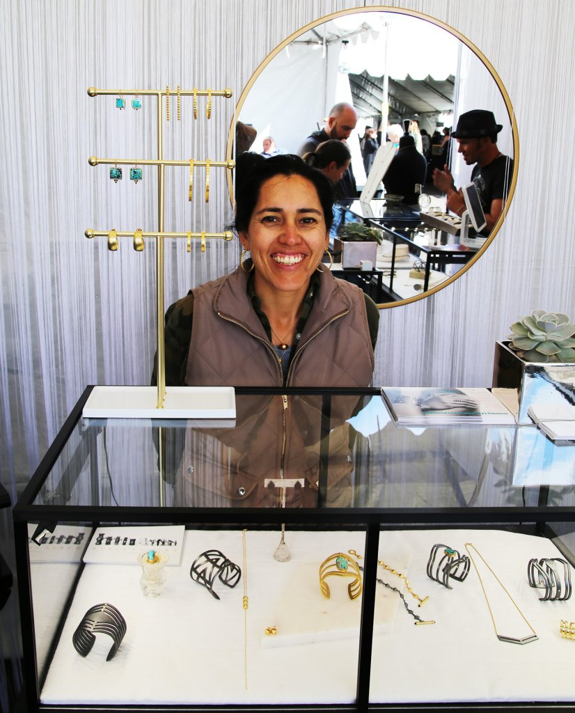 Maria Samora in her booth at the 2018 Heard Museum Indian Art Fair