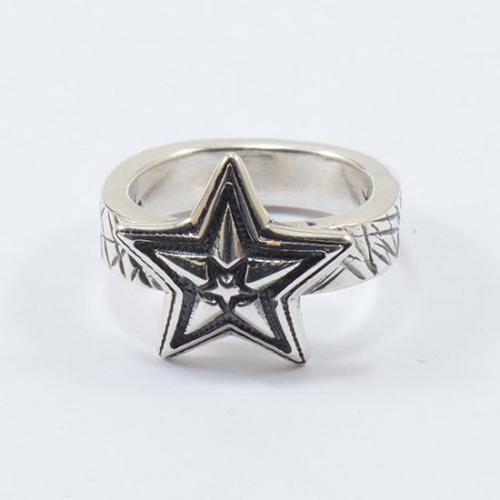 Cody Sanderson Sterling Silver Tiny Star in Star Ring with Cat Scratch Texture