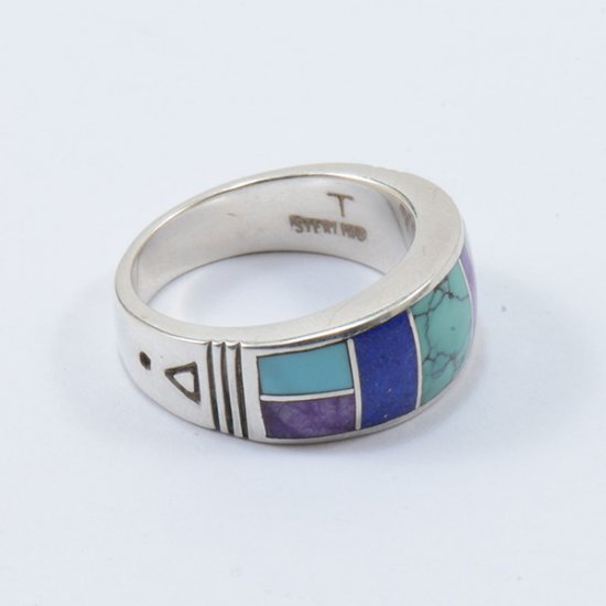 Supersmith Sterling Silver with Sleeping Beauty Turquoise, Lapis, Sugalite and Varisite Inlay