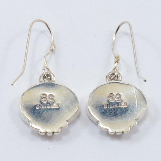 Supersmith Sterling Silver Oval Earring with Combination Sleeping Beauty and Kingman Turquoise Inlay