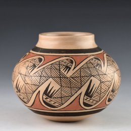 Fannie Nampeyo, Large Migration Pattern Jar, 1960's