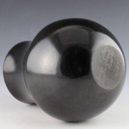 Toni Roller Blackware Small Water Jar, Santa Clara Pueblo
